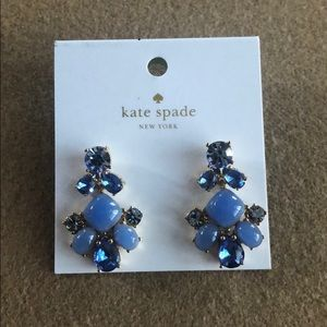 Kate Spade Statement Earrings Blue NWT